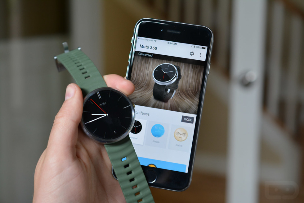 moto 360 android wear ios