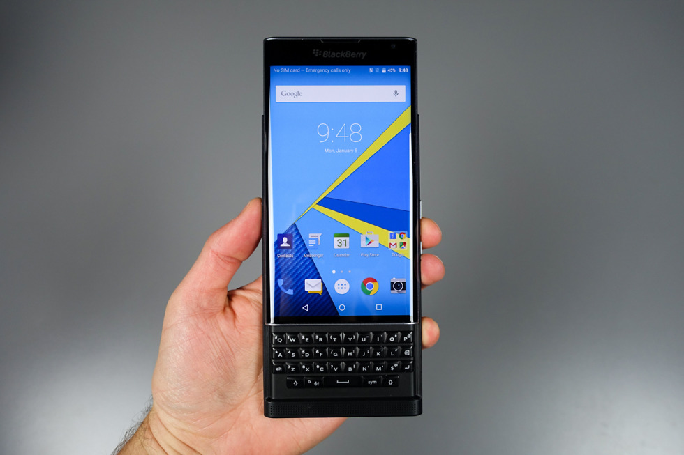 Android Marshmallow will be the most recent software for BlackBerry Priv