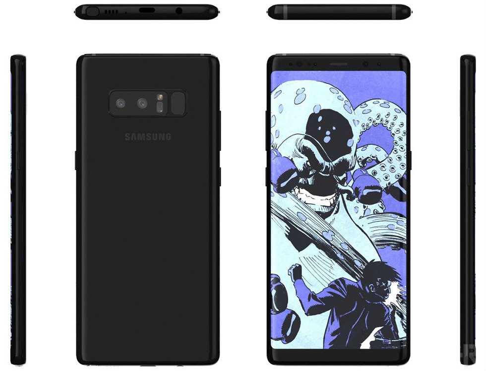 New Galaxy Note 8 Renders Provide Detailed Look