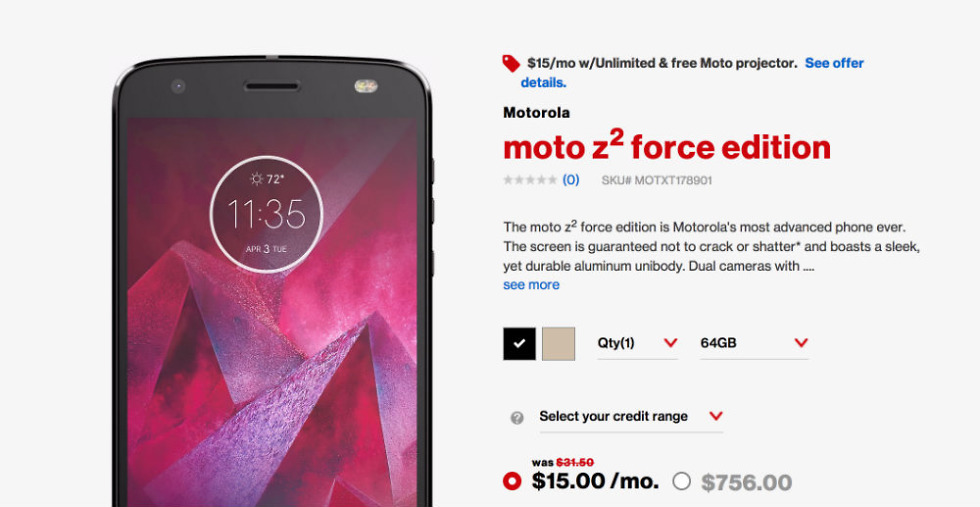 Moto Z2 Force All Set to Launch | Here's the Features, Price and Details of the Same