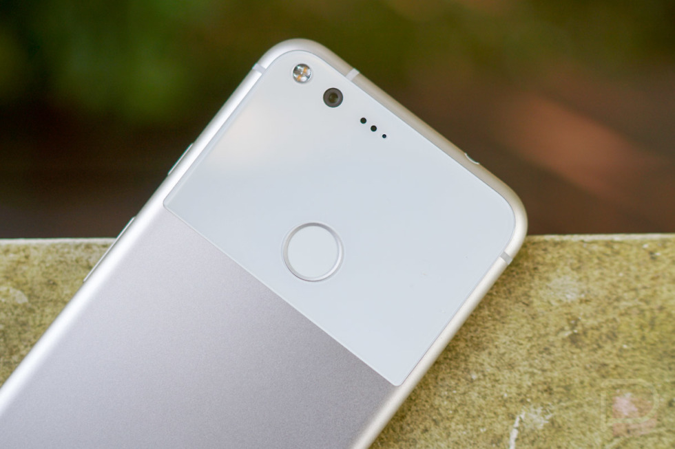 Google Pixel 2 with Android 8.0.1 and Edge Squeeze Listing Appears…