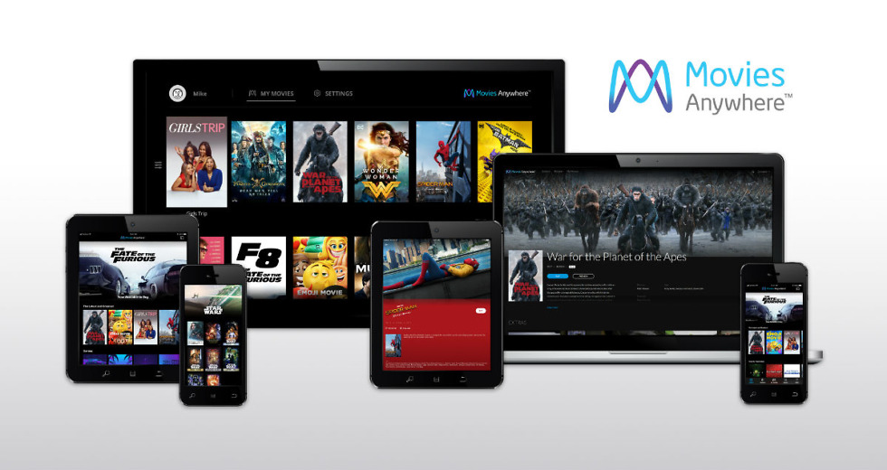 Movies Anywhere Launched by Five Studios!