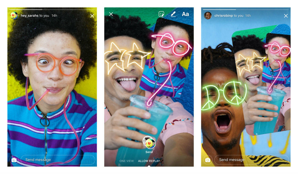 Instagram now lets you Remix photos sent as messages