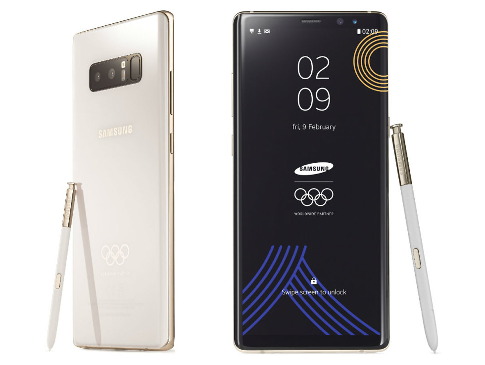 Winter Olympics Galaxy Note 8 version to be given to Olympians, staff