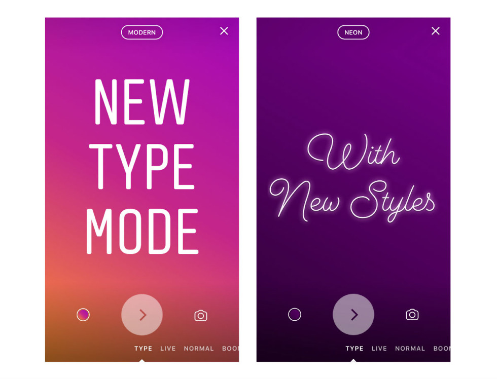 Instagram Introduces 'Type' Mode in Stories