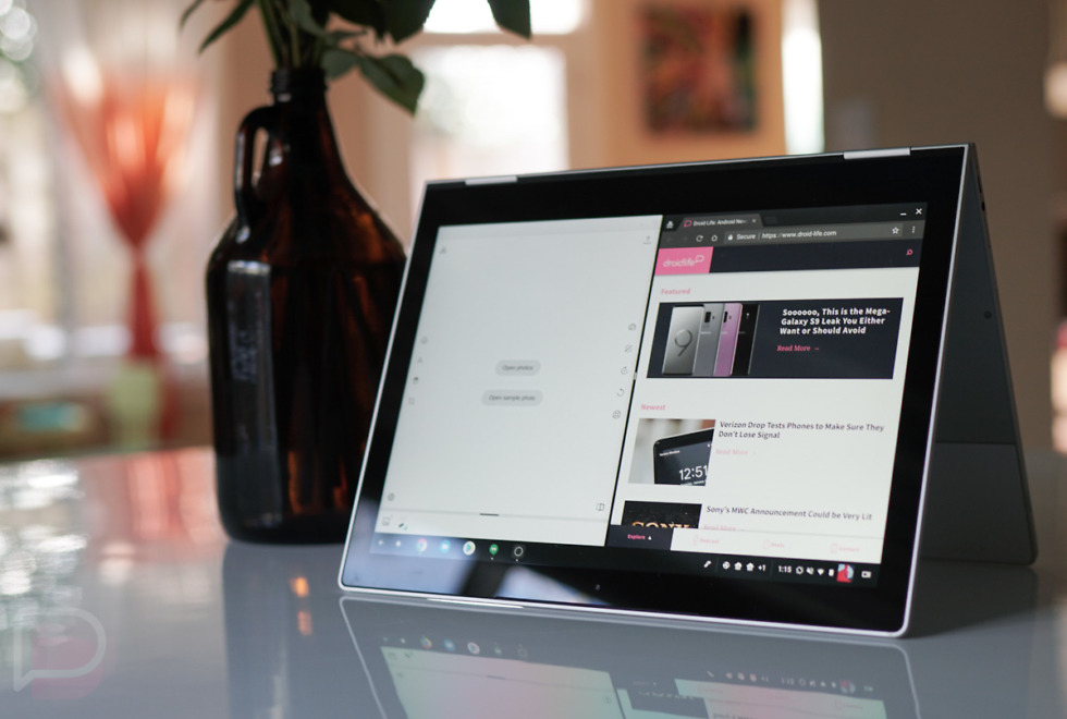 Android apps now support split-screen in Chrome OS's tablet mode