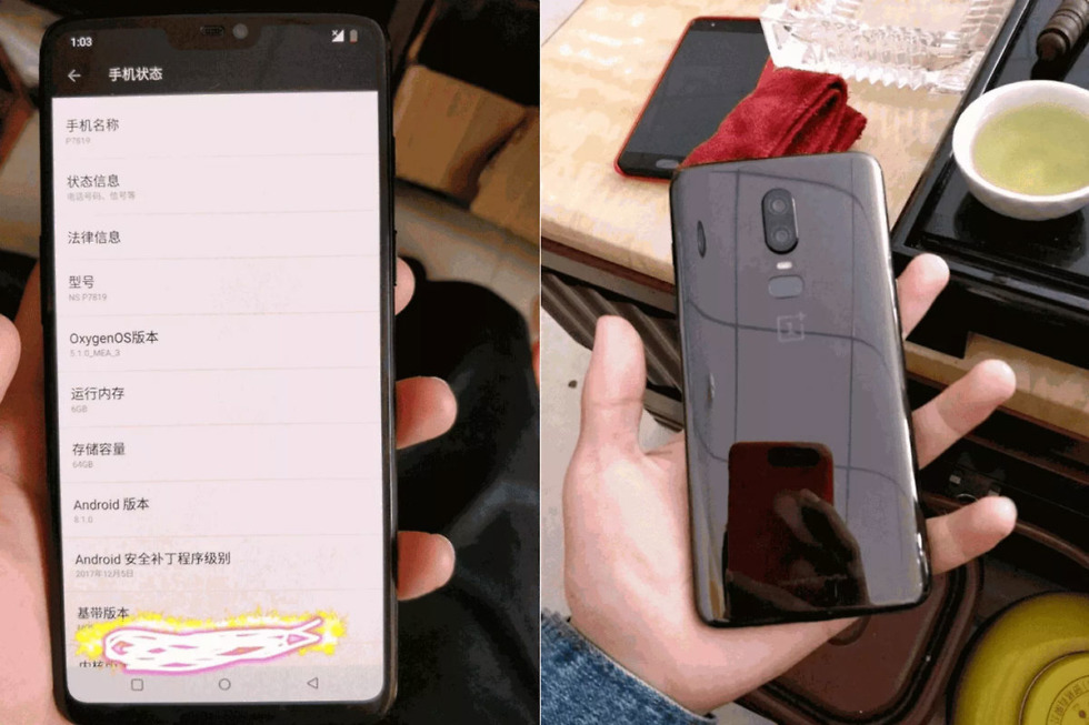 OnePlus 6 Specifications Sheet Leaked