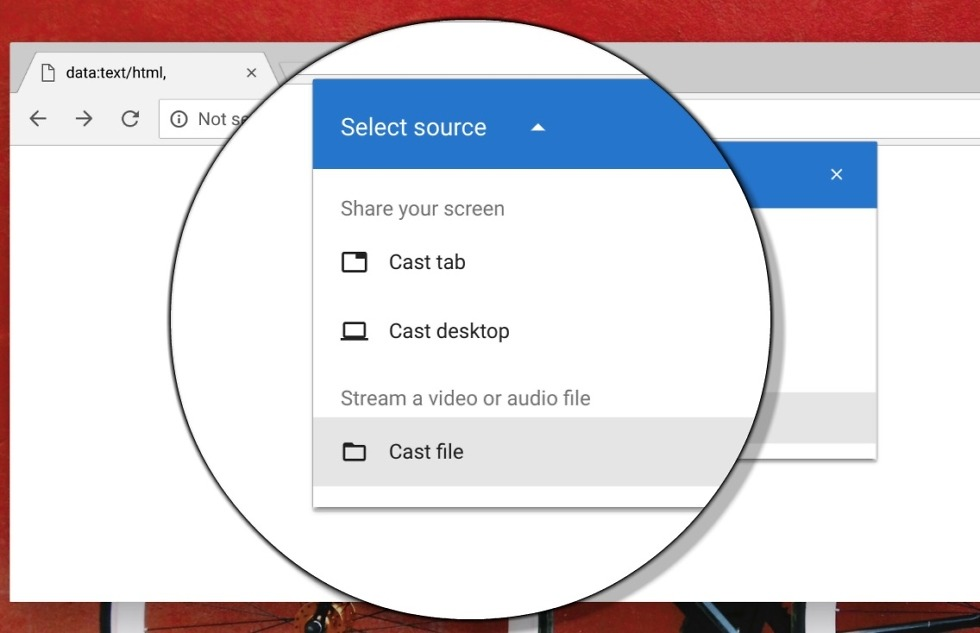 Google Chromecast is experimenting with a new way to cast local files