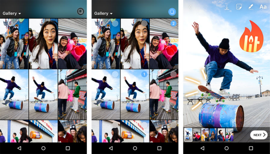 Instagram enables sharing of multiple pictures, videos on Stories all at once