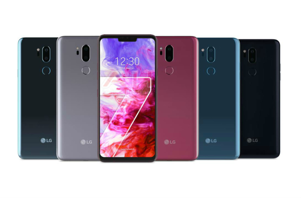 LG G7 ThinQ official press render confirms all available colors and notch