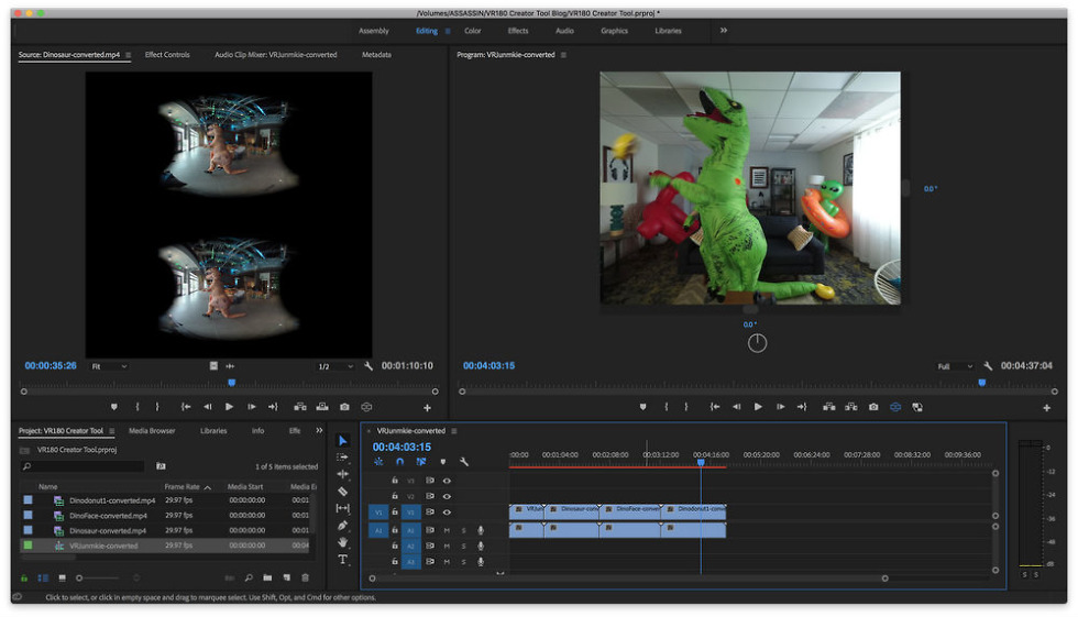 Google builds VR180 for immersive video editing