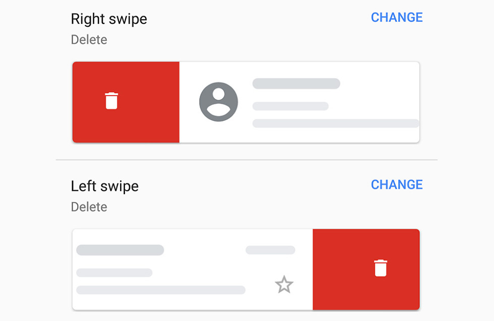 You can now customize Gmail for Android's swipe actions