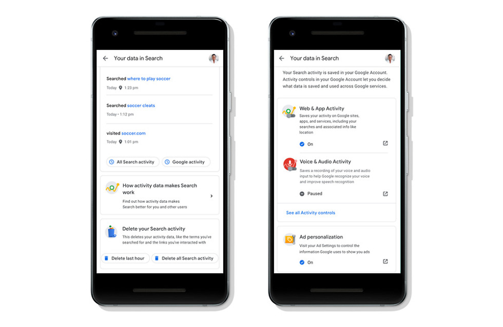Google Search makes it easier to access and control your data