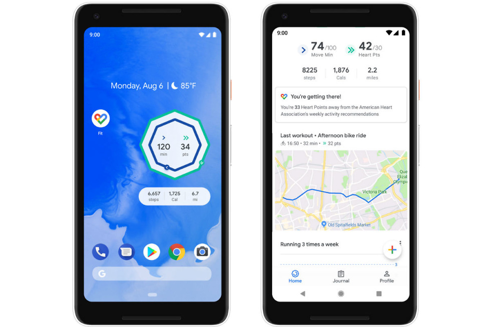 Google Fit update brings home screen widgets and a breathing coach