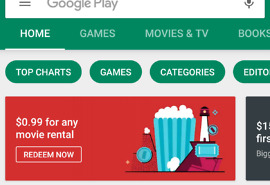 Movie Rental deal Google Play