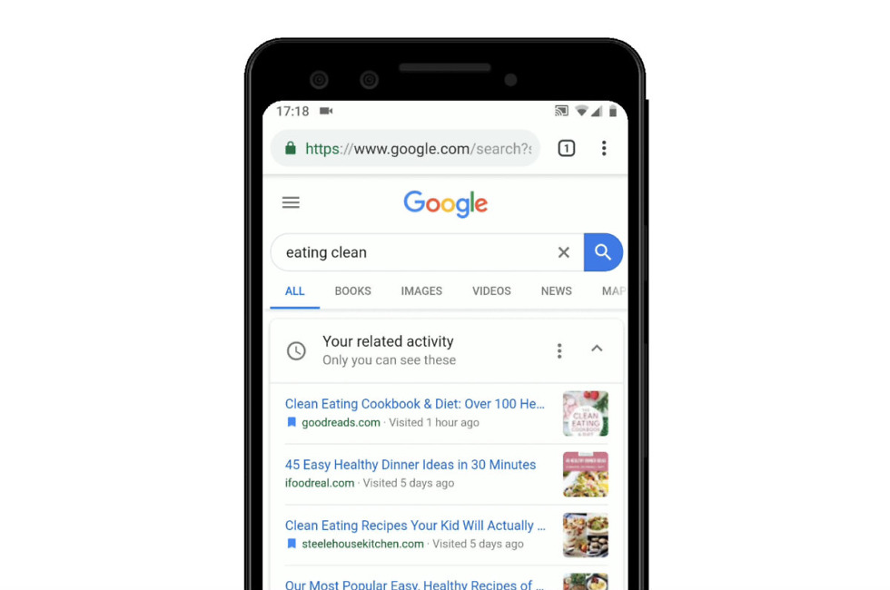 Google Search Gets Activity Cards to Pick Up Where You Left Off