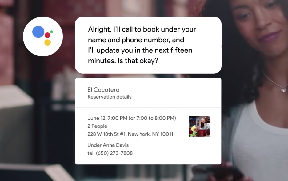 Google Assistant can now make vocal restaurant reservations in 43 states