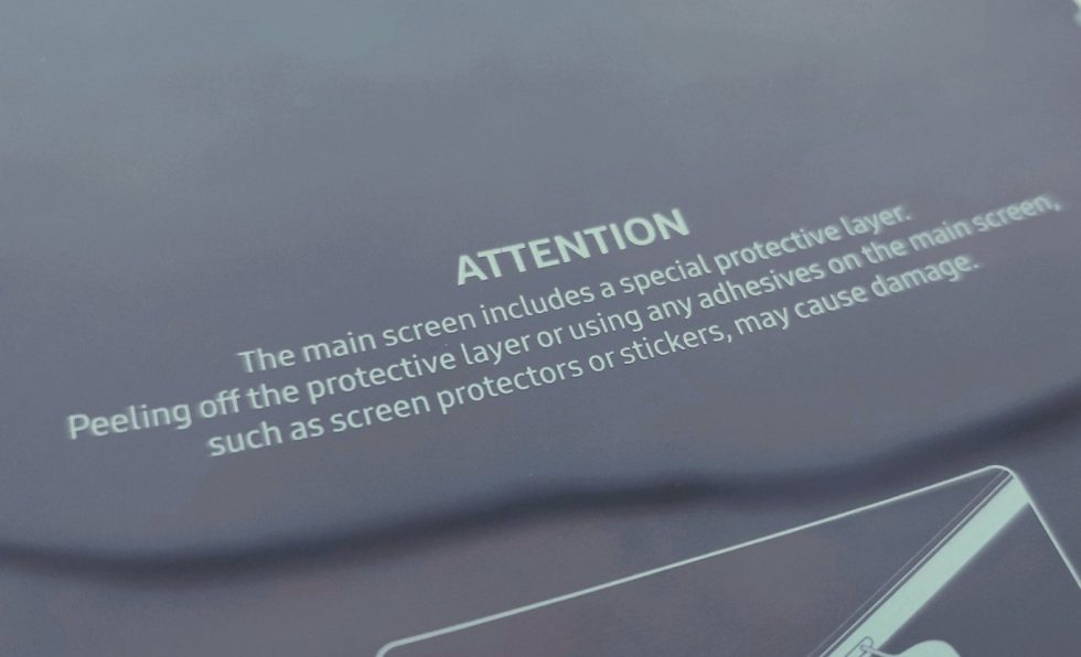 Galaxy Fold protective film critical to keeping screen intact