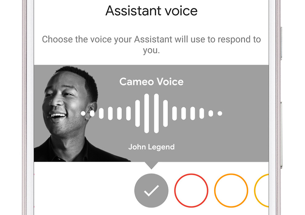 John Legend's Google Assistant voice option officially rolls out