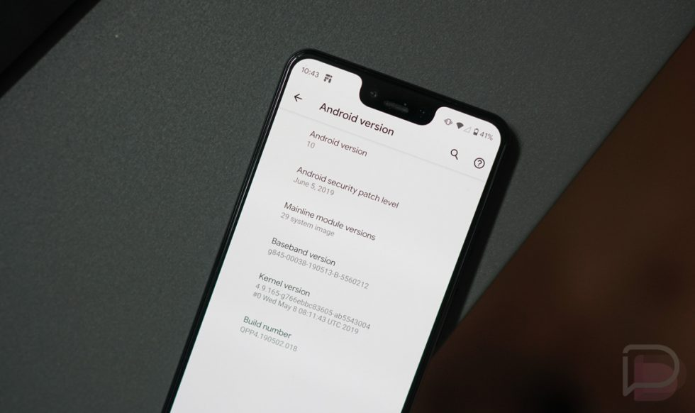 Did you download Android Q Beta 4?