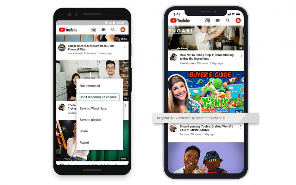 YouTube is giving users more homepage customization options
