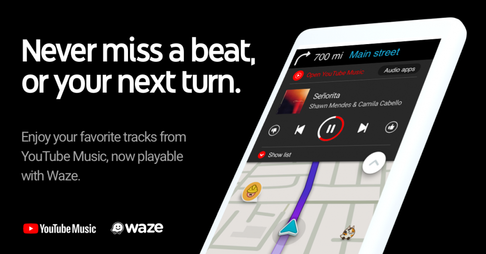 Waze adds YouTube Music controls for a safer dashboard