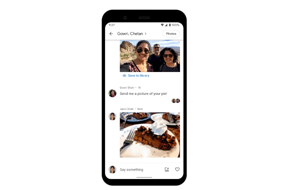 Google adds new private messaging feature in Google Photos