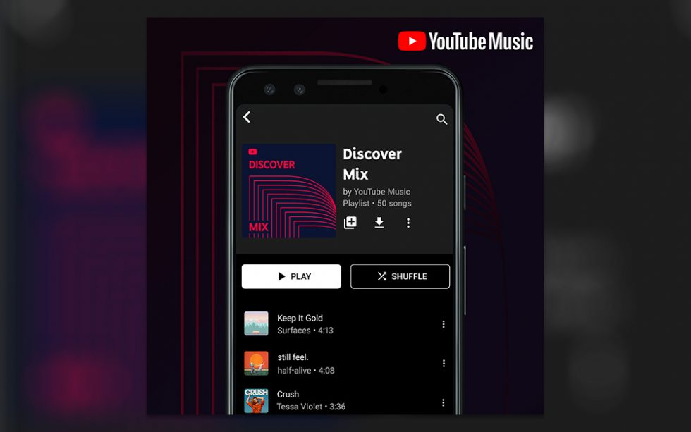 YouTube Music rolls out new personalized playlists and mixes