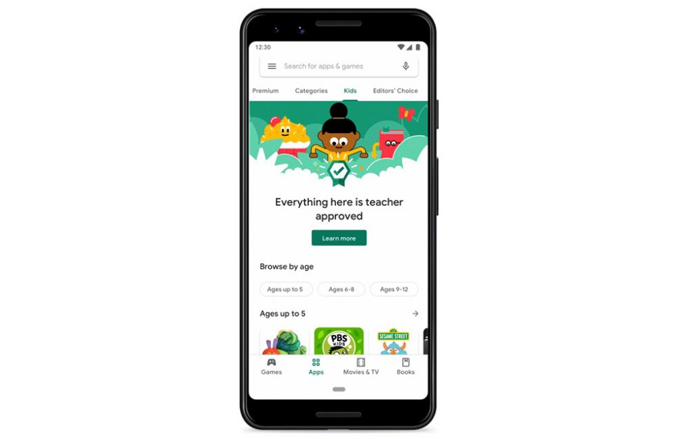 Google Play Store update helps parents find content for their shut-in kids